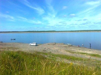 Место бывшего Залывского причала с рыбаками