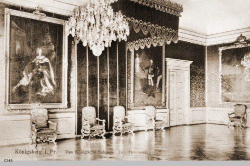 Тронный зал с парадными портретами всех королей и императоров, кроме Вильгельма II