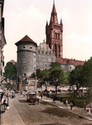 Кёнигсбергский замок, вид с открытки