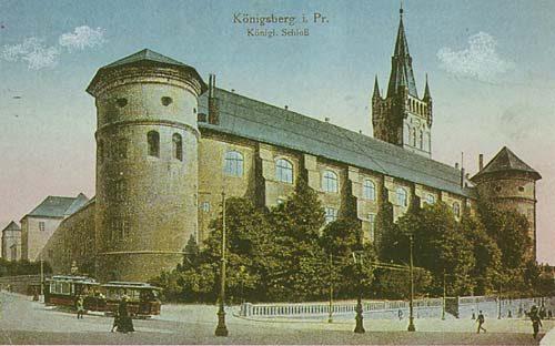 На немецкой открытке западное крыло замка